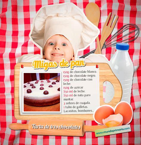 Tarta de tres chocolates para niños de primaria   Mundo ...