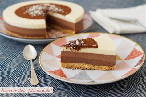 Tarta de tres chocolates paso a paso. ¡Receta muy fácil ...