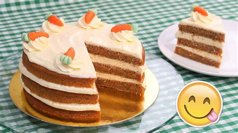 Tarta de Zanahoria   Carrot Cake con Frosting de Queso ...