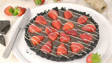Tarta fácil de chocolate con fresas ¡Deliciosa!   YouTube