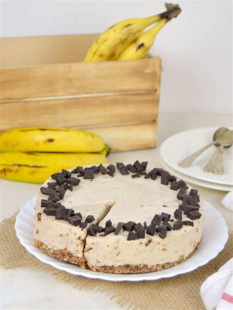 Tarta fría de plátano y chocolate sin horno | Cuuking ...
