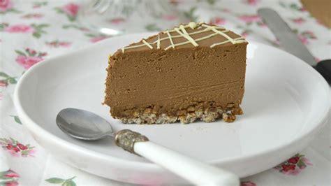 Tarta fría de queso con chocolate   Cuuking! Recetas de cocina