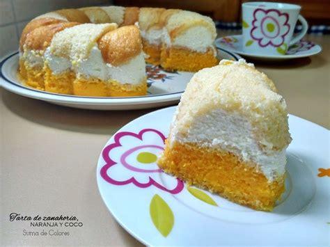 Tarta fría de zanahoria, naranja y coco | Tartas, Dulces y ...