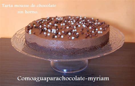 TARTA MOUSSE DE CHOCOLATE SIN HORNO | Comparterecetas.com