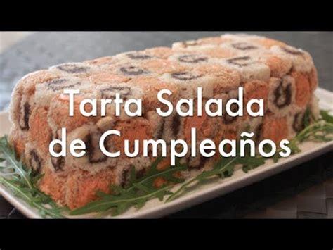 Tarta salada de cumpleaños con pan de molde   Recetas de ...