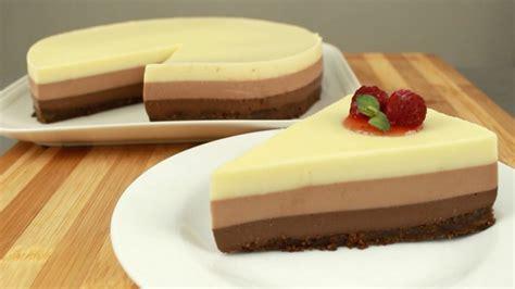 Tarta tres chocolates   delicias.tv