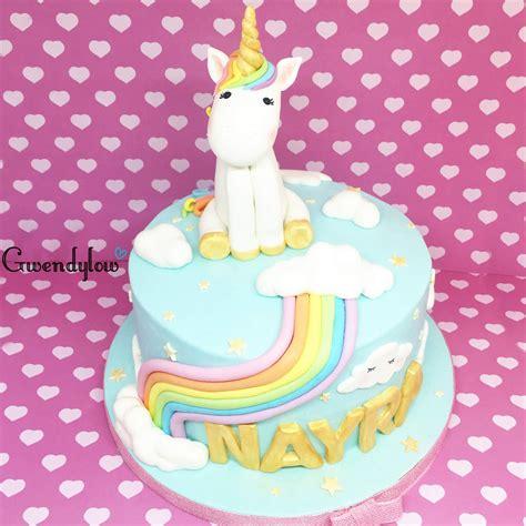 Tarta Unicornio Arcoiris para Nayra   Unicorn cake   Ñam ...