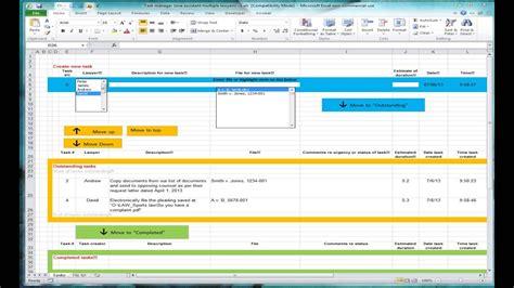 Task tracker  1/3 : Excel spreadsheet for tracking tasks ...