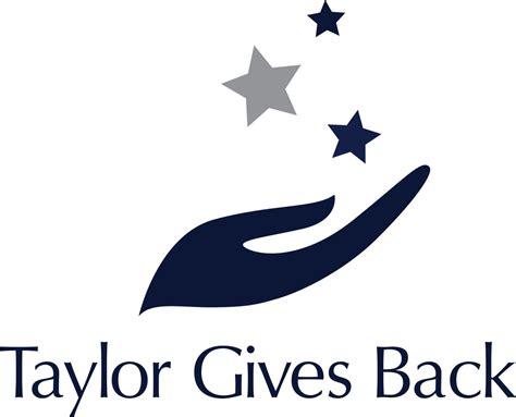 Taylor Management   Taylor Gives Back