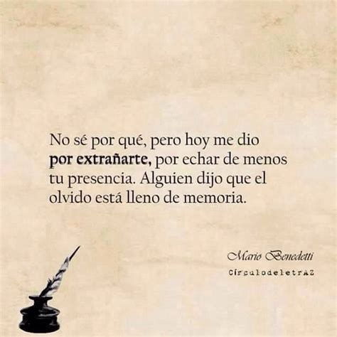 Te extraño... Mario Benedetti | Spanish quotes, Lettering ...