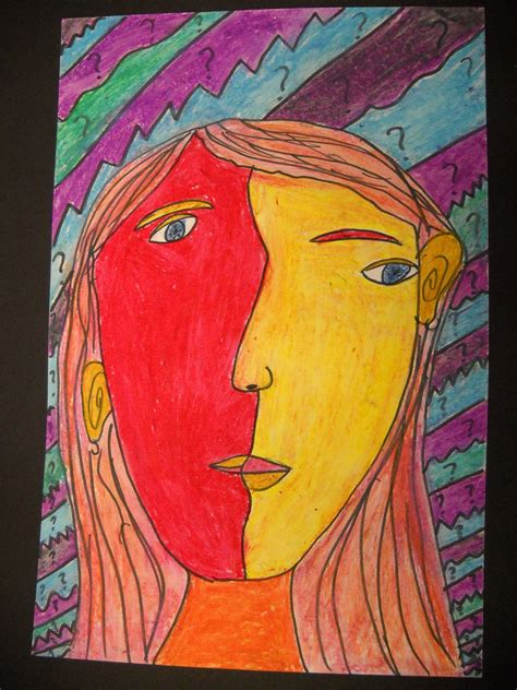 Teach Art and Create: Picasso Inspired Cubism Self Portraits