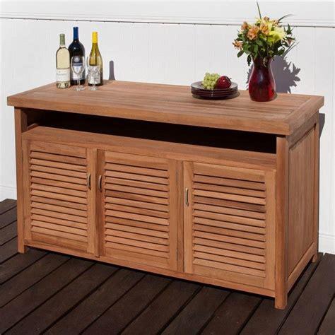 Teak Buffet with Storage   Outdoor Furniture   Outdoor ...