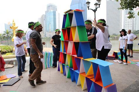 Team building activities in Bangkok green Park for Royal ...