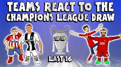 TEAMS REACT TO THE LAST 16 UCL DRAW  Champions League ...