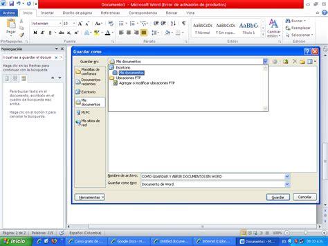 Tecnología siglo XXI: ¿Cómo guardar y abrir documentos en ...