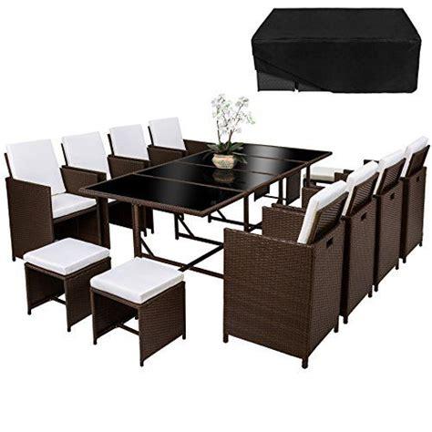 TecTake Conjunto muebles de jardín en ratán sintético com ...