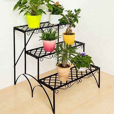 TecTake Estantes para plantas escalera metálica macetas ...