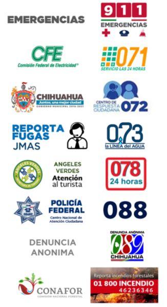 Telefonos de Emergencia | Chihuahua.gob.mx