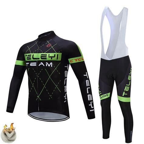 TELEYI Winter thermal fleece cycling jersey ropa ciclismo ...
