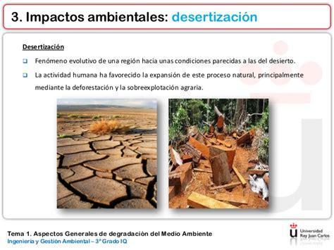 Tema 1. aspectos generales de degradación del medio ambiente