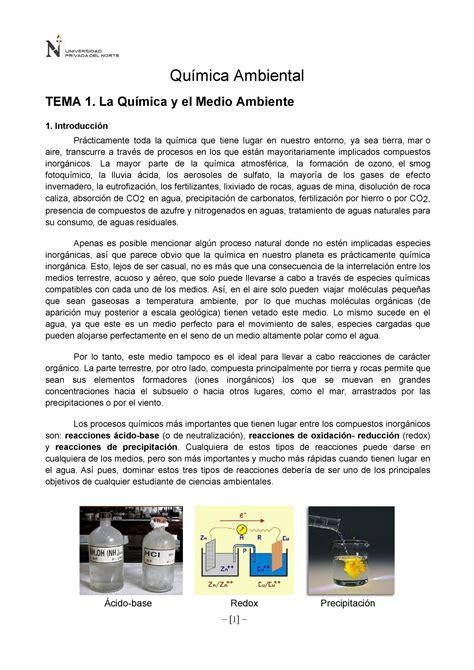 Tema 1 La Química y el Medio Ambiente   Neuropsicología ...