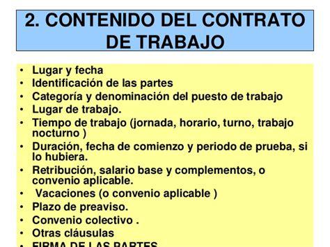 TEMA 4 :Contrato de trabajo
