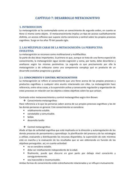 Tema 7   Resumen   Psicología del Desarrollo   StuDocu