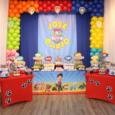 Tema Paw Patrol. Cumpleaños de niños. Fiestas Infantiles ...