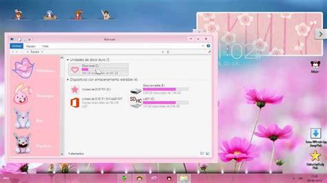 Tema rosa para windows 8   YouTube