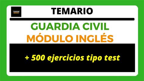 TEMARIO GUARDIA CIVIL   Módulo Inglés   YouTube