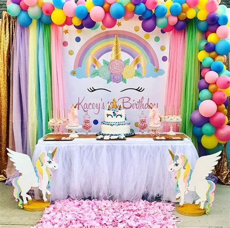 Tematica Decoracion De Unicornio Para Cumpleaños De Niña ...