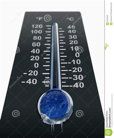 Temperatura Fría De Congelación Stock de ilustración ...