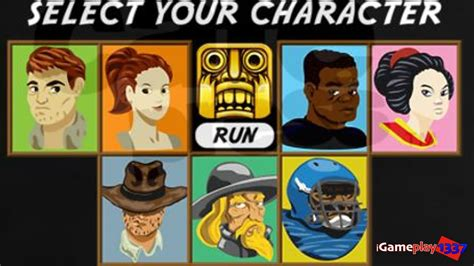 Temple Run 1   ALL 7 CHARACTERS GAMEPLAY REVIEW   YouTube