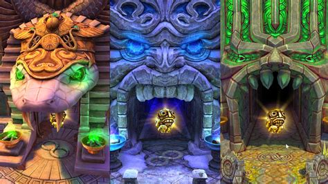 Temple Run 2 All Maps! Blazing Sands Frozen Shadows and ...