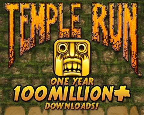 Temple Run  Turns One and Hits 100 Million Mark, New ...