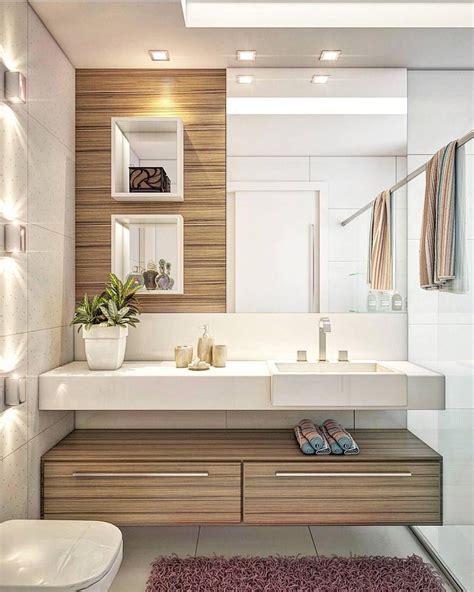 tendenciaarquitetura Banheiro em tons de madeira e pedra ...