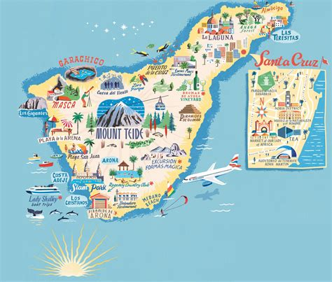Tenerife Map: Top places of interest   Blog of Canary ...
