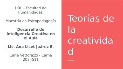 Teoría de la creatividad by Carla Vettorazzi   Issuu