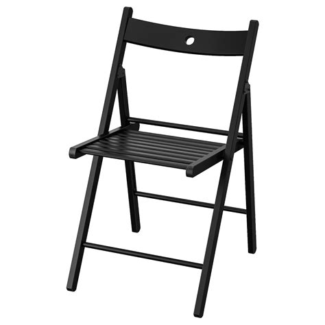 TERJE Silla plegable, negro   IKEA