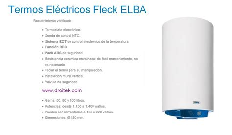 Termo eléctrico Fleck Elba, calidad a buen precio