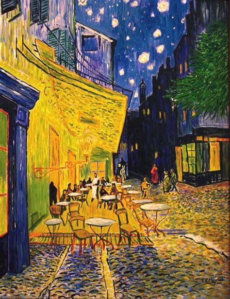 terraza de cafe por la noche | Pinturas de van gogh ...