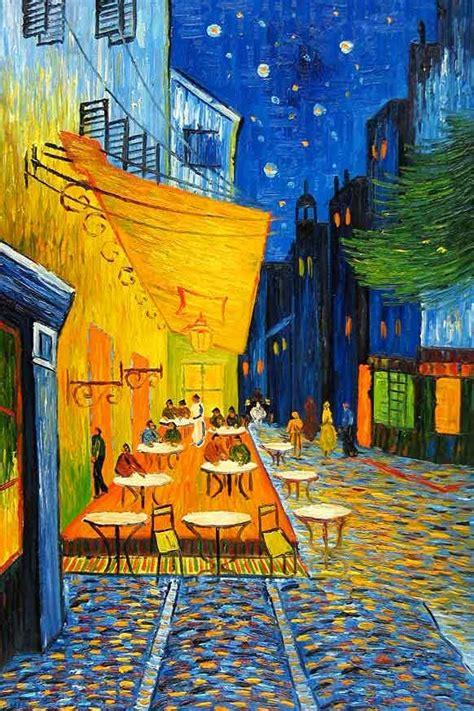 «Terraza del café por la noche», de Vincent Van Gogh.1888 ...
