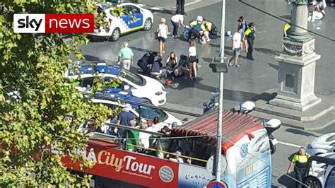 Terror attack in Barcelona tourist spot   YouTube