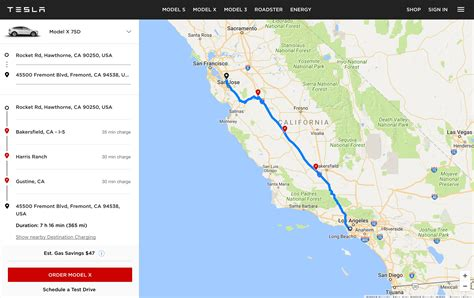 Tesla launches  EV trip planner  tool with map of ...