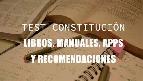 Test de Constitución: libros, manuales y apps del 2020