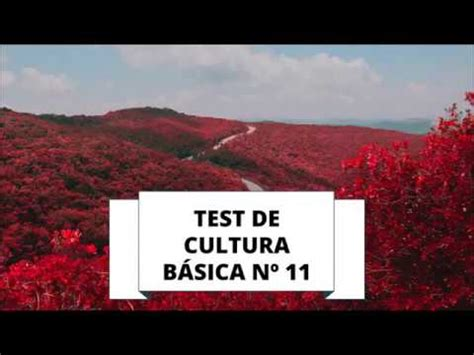 TEST DE CULTURA GENERAL 11  NIVEL BÁSICO    YouTube