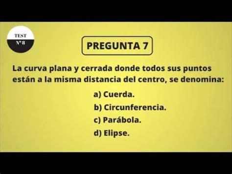 TEST DE CULTURA GENERAL 8  NIVEL BÁSICO    YouTube