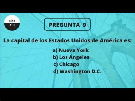 TEST DE CULTURA GENERAL BÁSICA 1   YouTube
