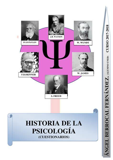 Test de Historia DE LA PsicologÍa. Cuestionarios POR Temas ...