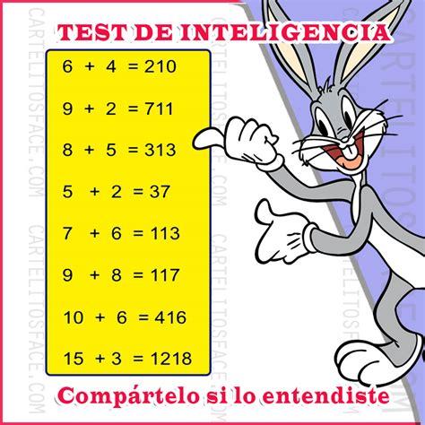 Test de inteligencia. Tarjetitas para compartir.